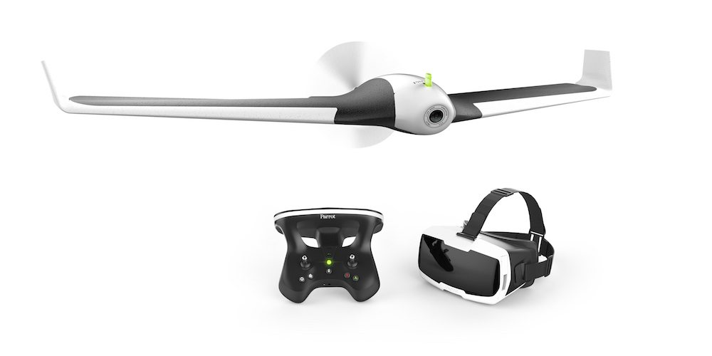Parrot Disco Fixed-Wing Drone, the Skycontroller 2 and the new Parrot Cockpitglasses 2