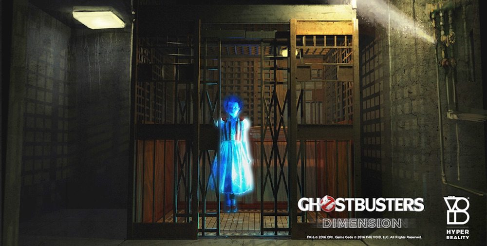 You never know who you will meet in the Ghostbusters:Dimension exhibit