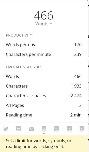 Write Word Count and Progress \ Image: Dakster Sullivan