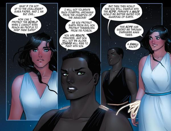 Panel from the conclusion of The Legend of Wonder Woman. Image copyright DC Comics.