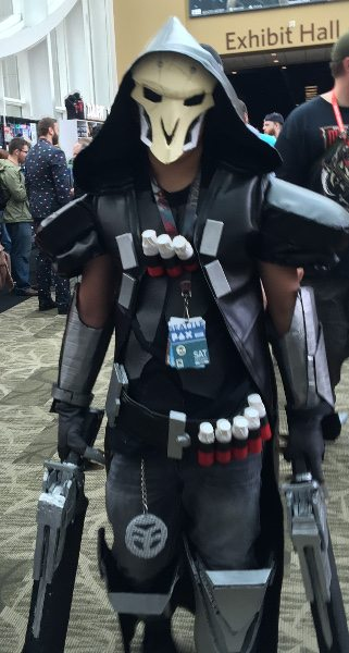 Person dressed up as Reaper from 'Overwatch' at PAX West 2016.