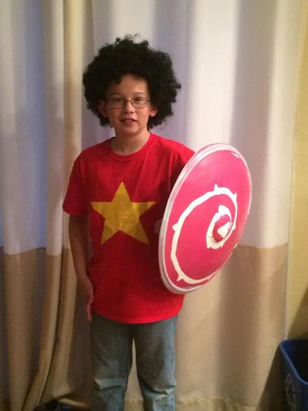 My youngest son was Steven last Halloween! A very easy cosplay for your SU fan! Image credit: Patricia Vollmer.