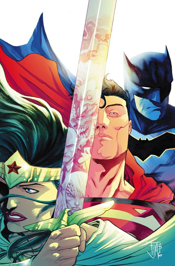 Trinity #1, art by Francis Manapul--our favorite of the variant covers. Image copyright DC Comics