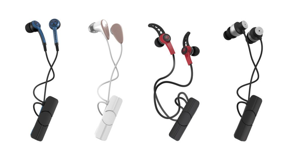 Zagg wireless audio lineup (from left to right: Plugz, Charisma, Summit, Impulse)