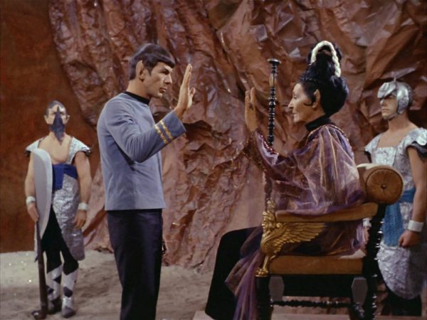 a screen cap of Star Trek: Amok Time
