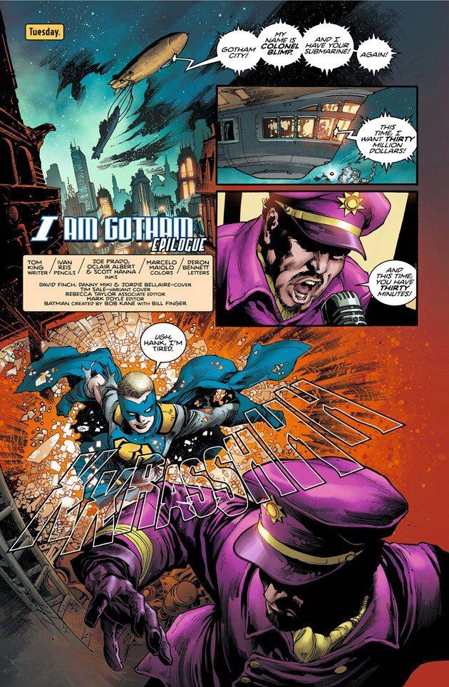 Gotham Girl in her grief, Batman #6, image copyright DC Comics