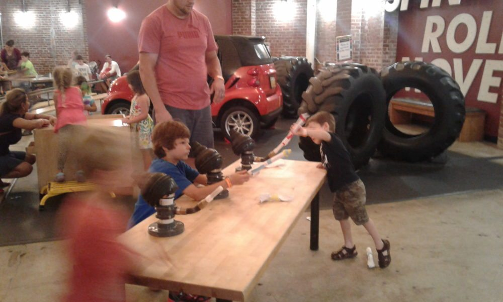 Rocket launchers, Garage, Children's Museum of Pittsburgh