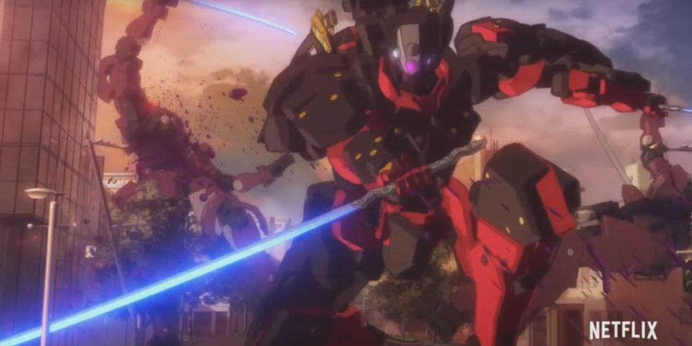Kuromukuro screen capture from P.A. Works' promotional video.