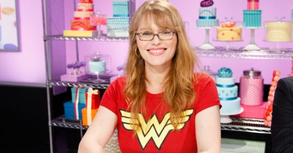 Guest judge Nicola Scott poses for a photo, as seen on Food Network's Cake Wars, Season 4.