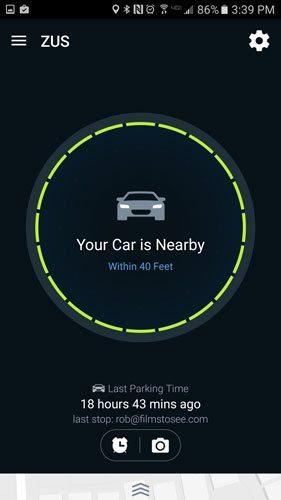 The Car Locator in the app. Image: Rob Huddleston