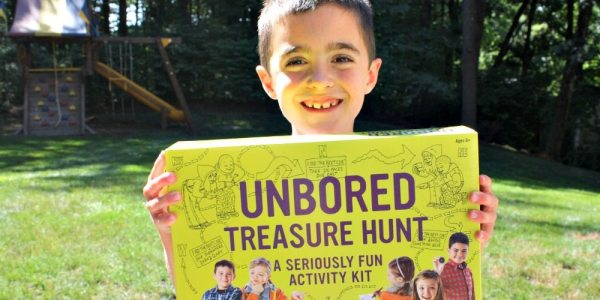 Unbored Treasure Hunt Encourage Imagination and Creativity with Mindware Toys Unbored Games Treasure Hunt Caitlin Fitzpatrick Curley My Little Poppies GeekMom