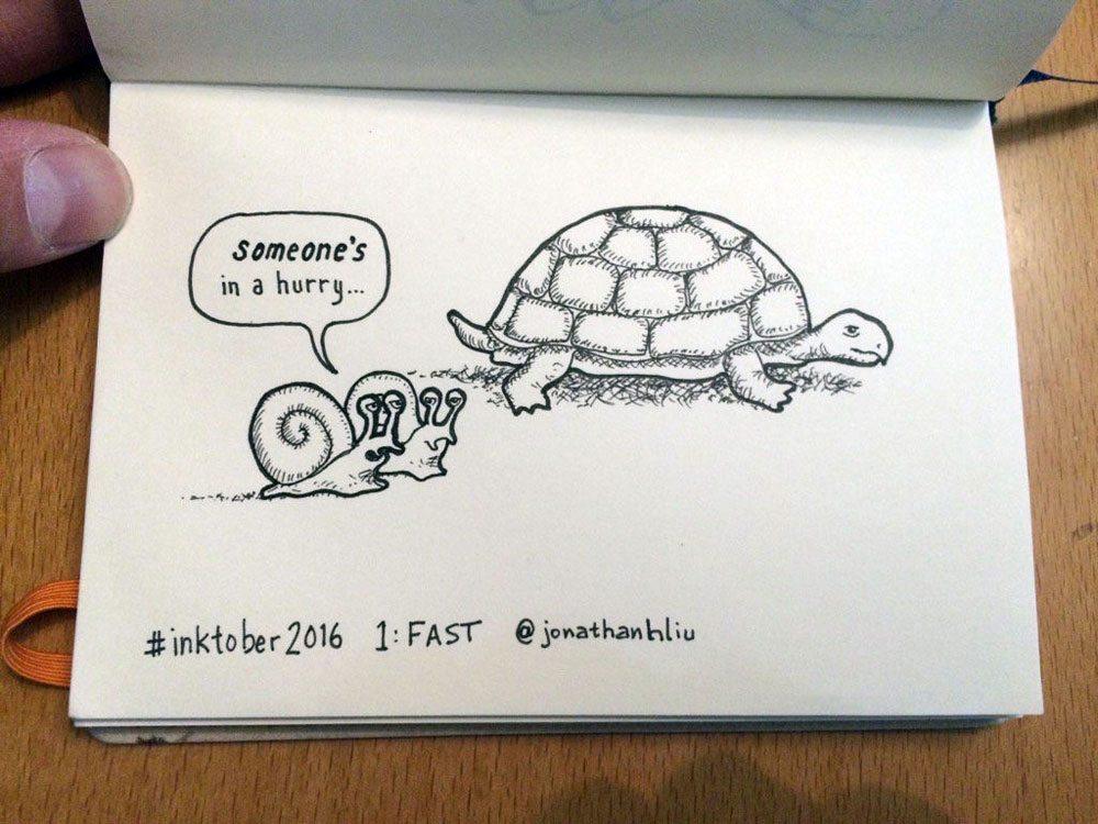 Inktober 1: Fast