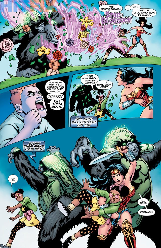 Wonder Woman and Star Blossom, art by Colleen Doran, story by Gail Simone