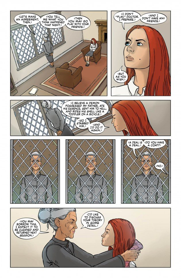page from Clean Room #12. Oh, Astrid.