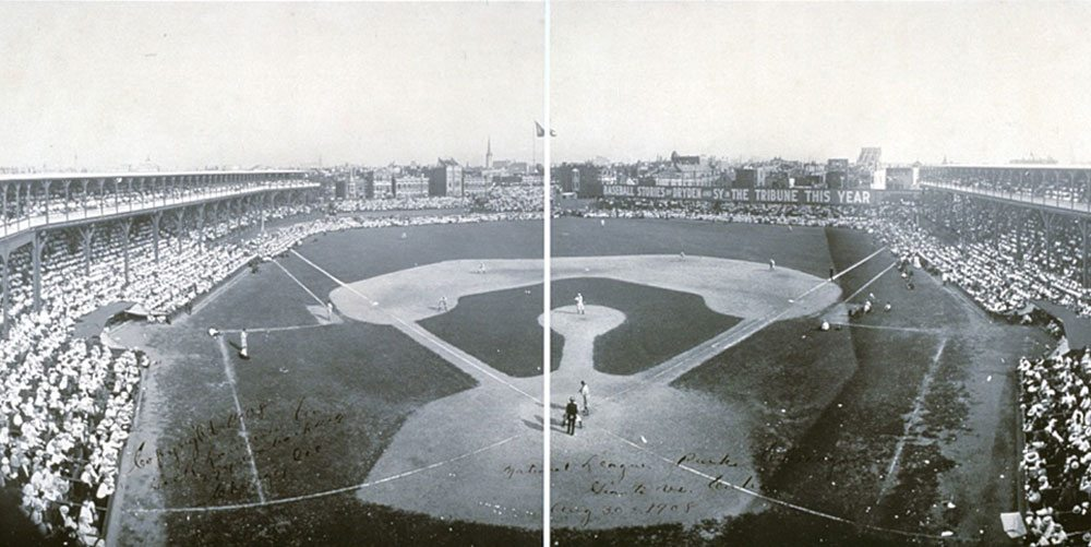 The Chicago Cubs playing in 1908. Image in the public domain, courtesy Library of Congress.