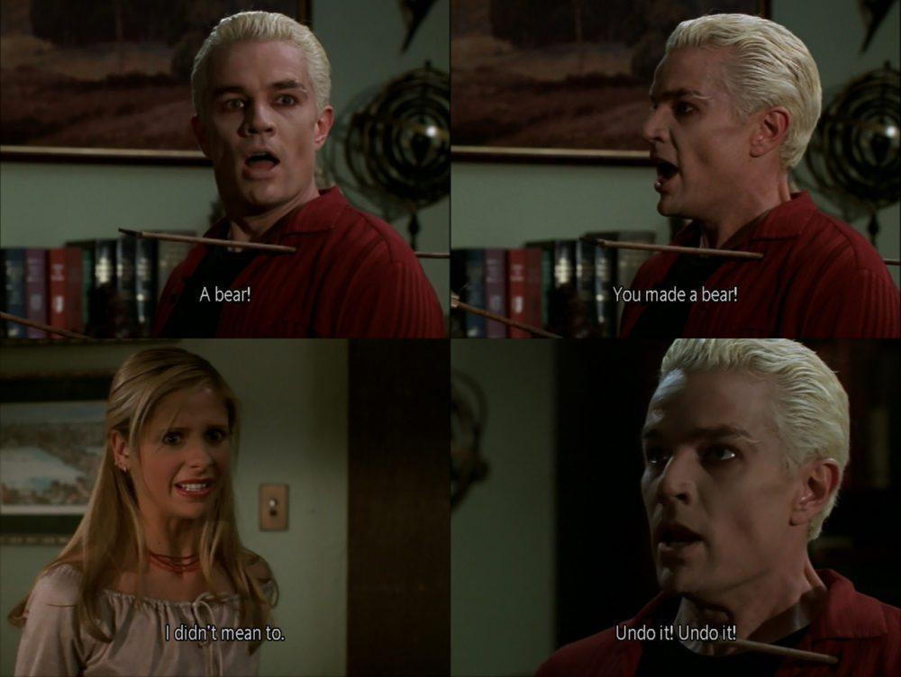 """Photo set from the episode """"Pangs"""" of Buffy the Vampire Slayer."""