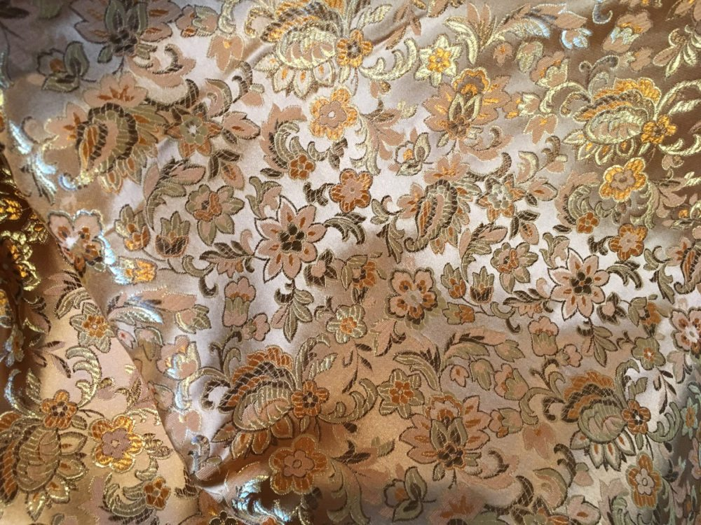 Fancy fabric, reminiscent of yesteryear (which was kind of the point). Photo: Jenny Bristol