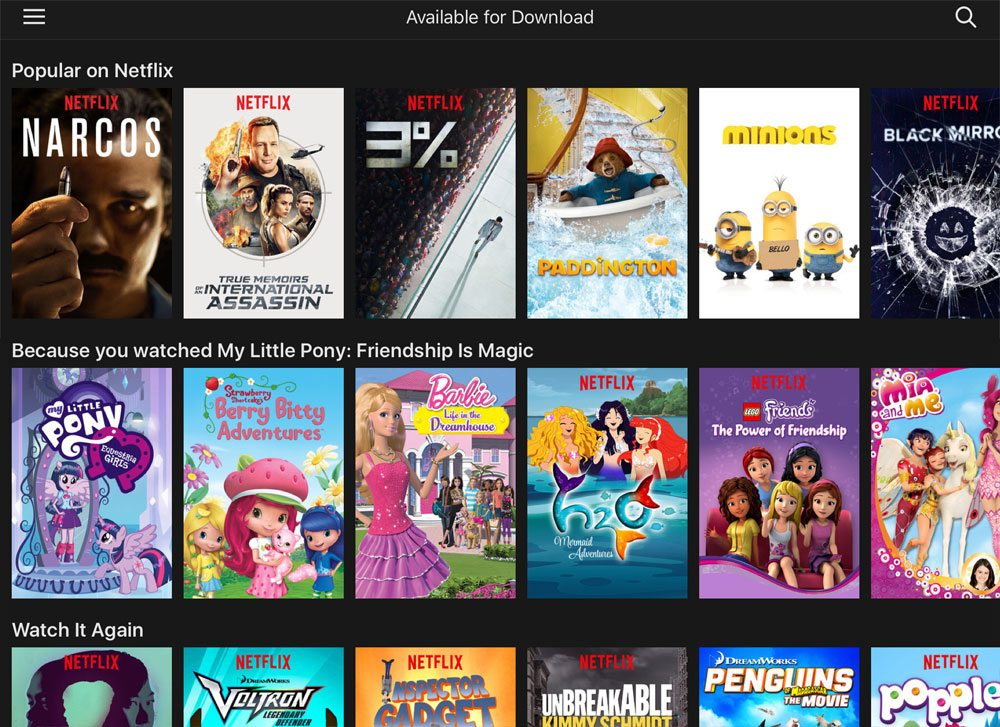 Netflix available for download