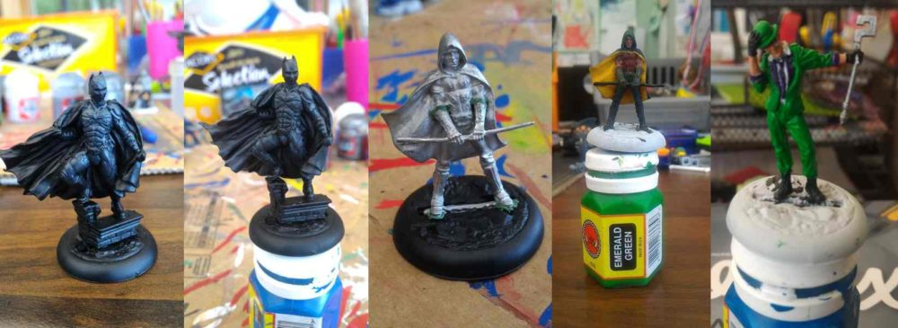 Knight miniatures montage