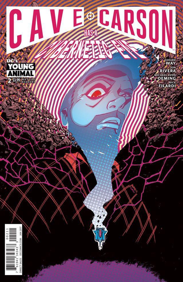 Cave Carson Has a Cybernetic Eye #2, copyright DC Comics