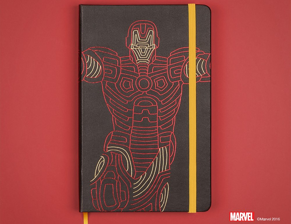 Everyone suspected Tony had gone too far when he introduced the Mk-MLSKN armor (Image Credit: Moleskine)
