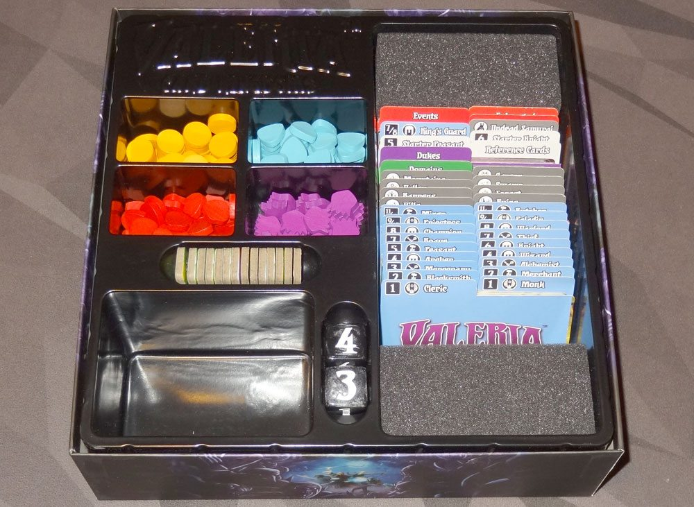 Valeria: Card Kingdoms box insert