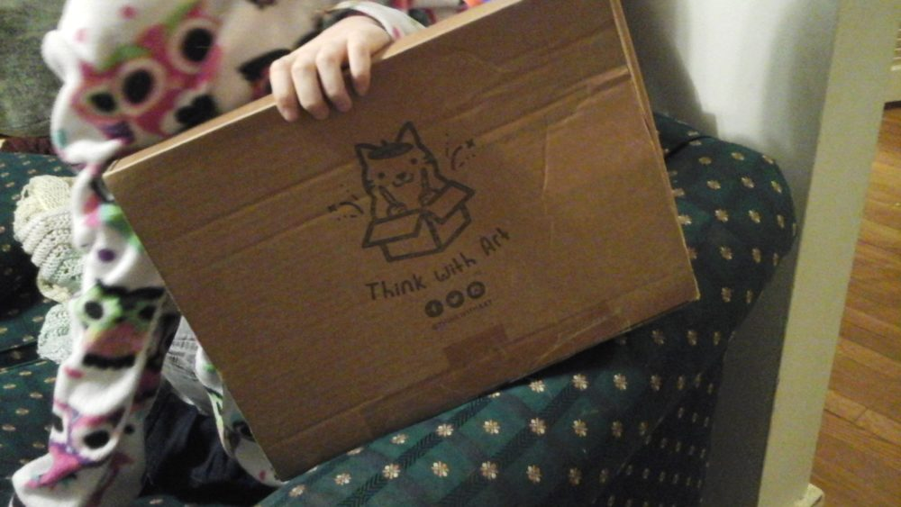 The Think With Art box, as it came in the mail.