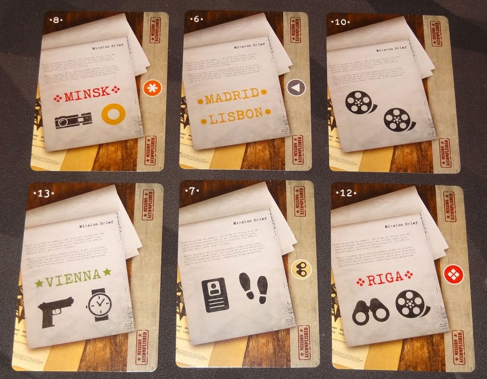 Covert mission cards
