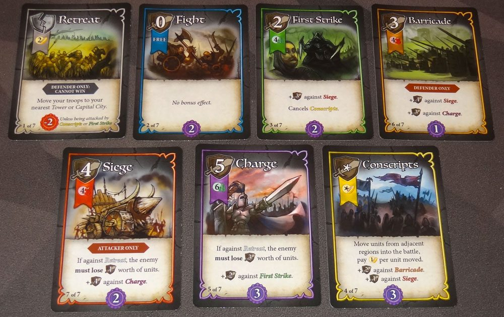 Heroes of Land, Air & Sea tactics cards