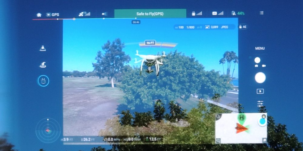 Epson Moverio Smart Glasses provide an augmented reality view for drone pilots.