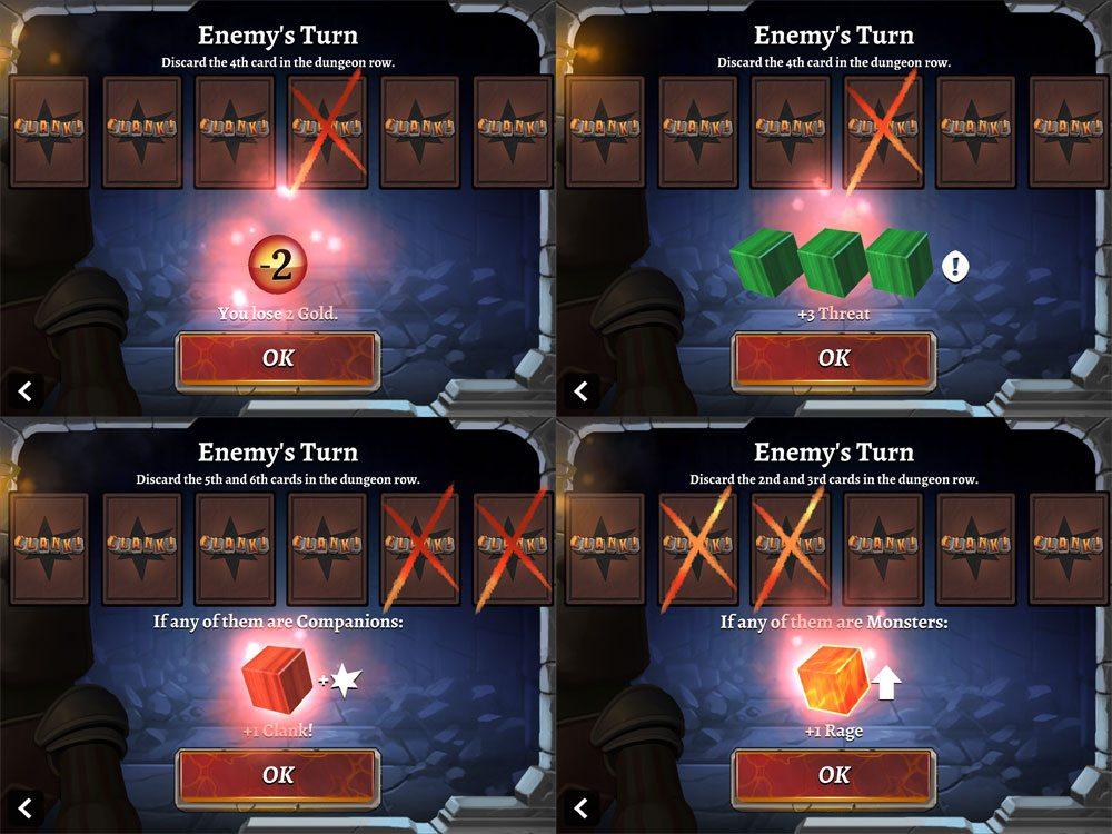 Clank app enemy turn