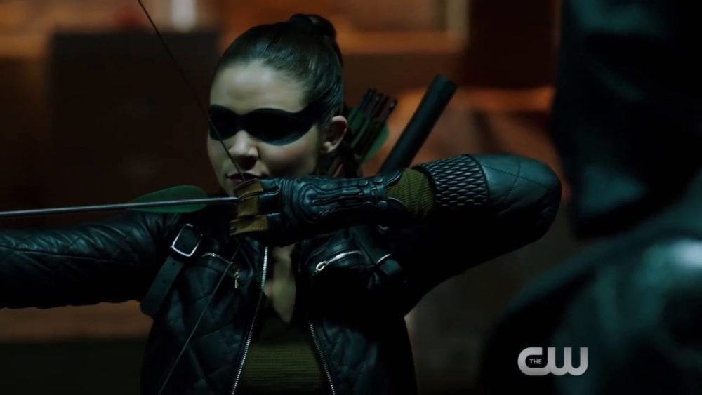 "Madison McLaughlin as Artemis in the 'Arrow' episode ""What We Leave Behind."""
