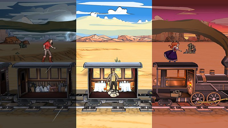 Different Weather and Lighting in Colt Express, Image: Asmodee Digital