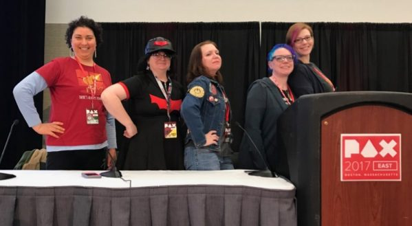 panelists at the geek parenting panel at PAX Easy 2017