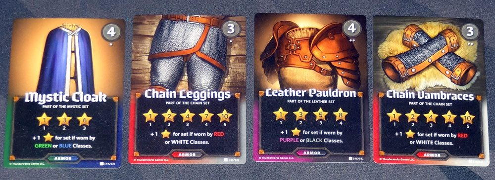 Roll Player Armor cards