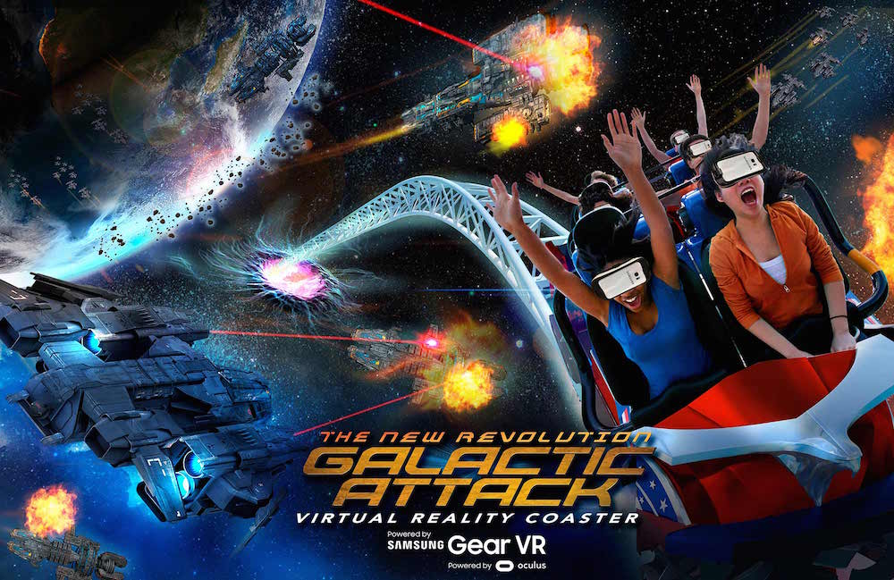 Six Flags New England Galactic Attack VR Coaster
