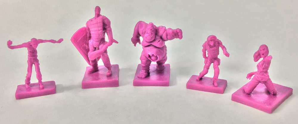 The five mutated zombies (mutates) from Zpocalypse 2.