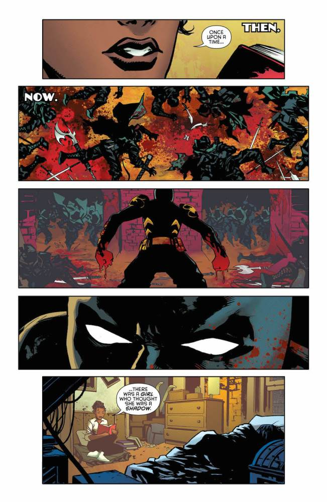 Page 1, Batman: Detective Comics 955, featuring Cassandra Cain