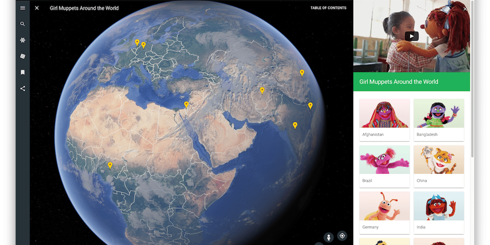 Learn about local cultures with the new Google Earth and Sesame Workshop.