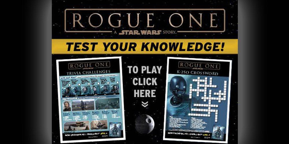 'Rogue One' printable quiz