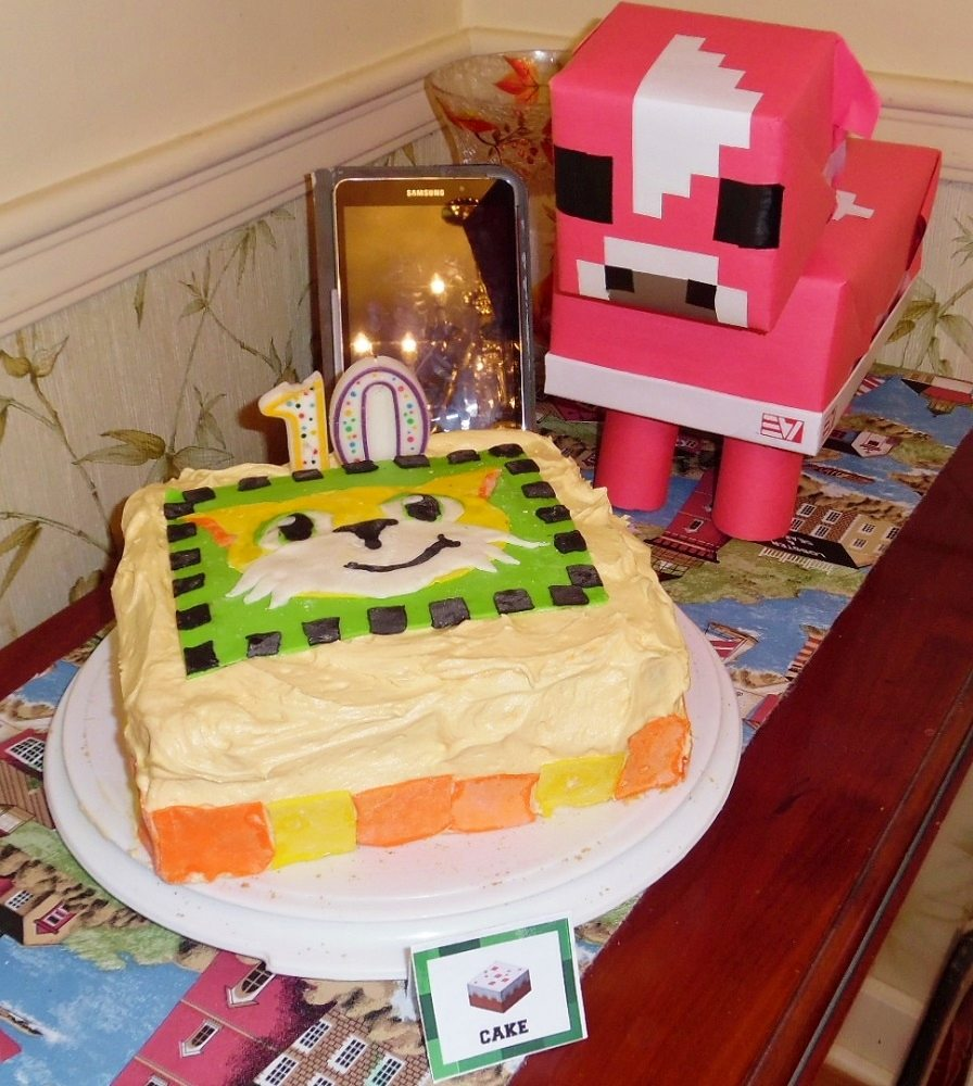 Stampy cake and mooshroom