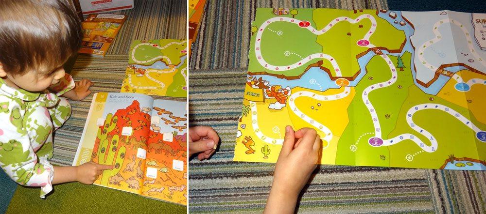 Toddler working on Summer Brain Quest