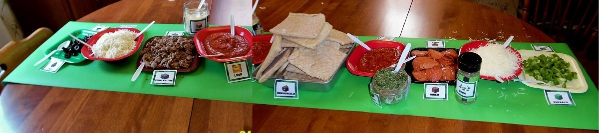minecraft pizza toppings