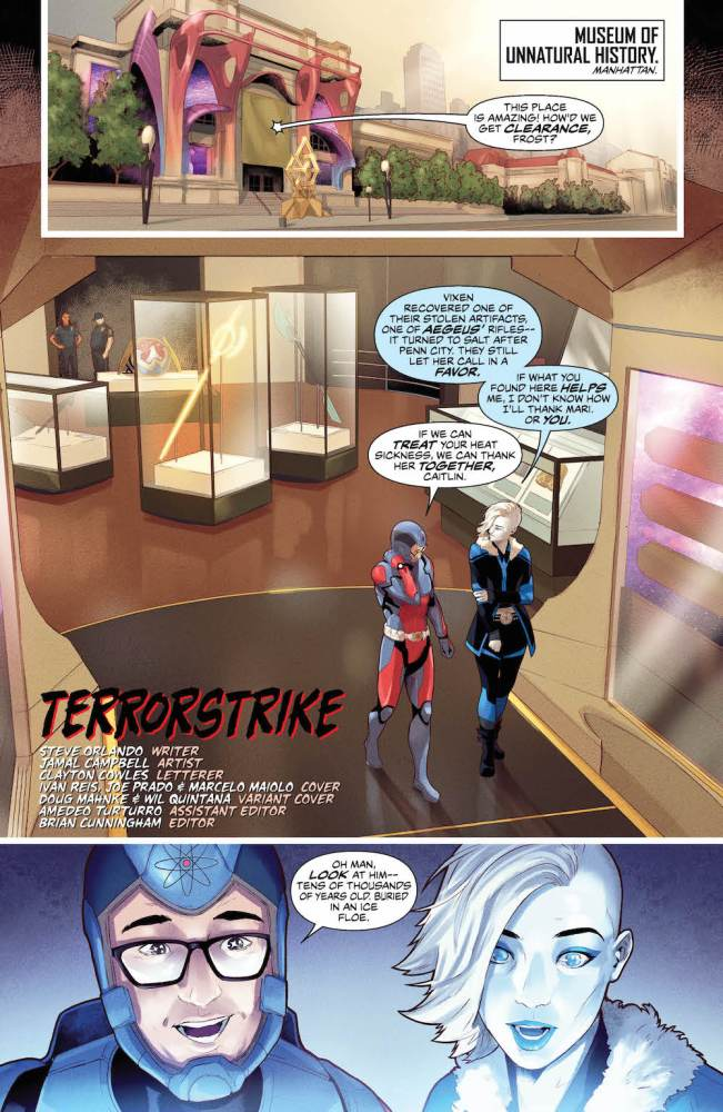 Killer Frost, Ryan Choi (Atom), in Justice League of America