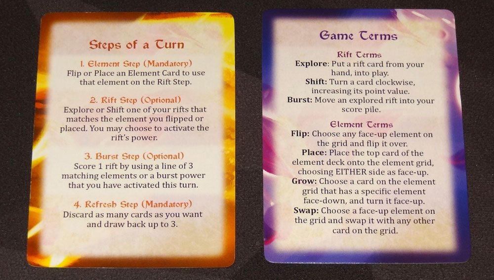 Riftwalker reference cards