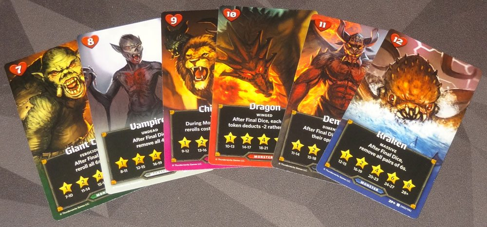 Roll Player: Monsters & Minions monster cards