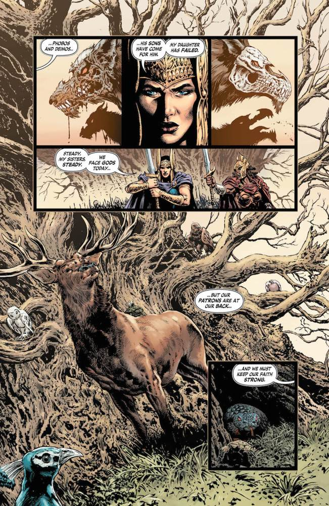 Wonder Woman #23, story by Greg Rucka, art by Liam Sharp