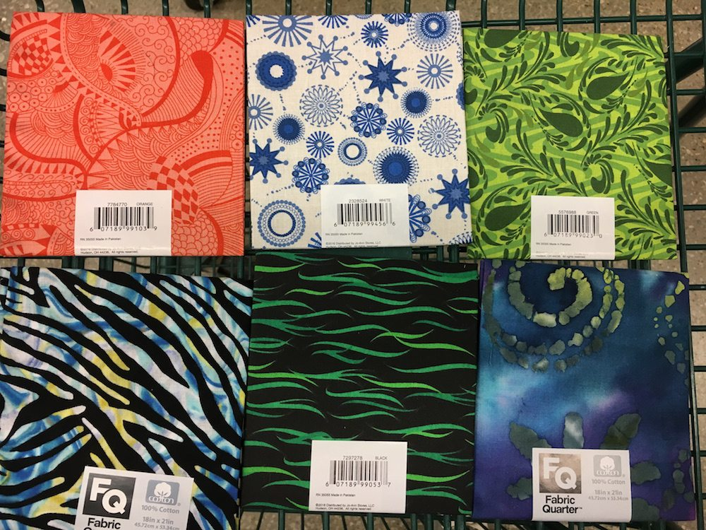 Different fabric samples to choose from