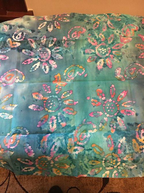 Un-ironed fabric chosen