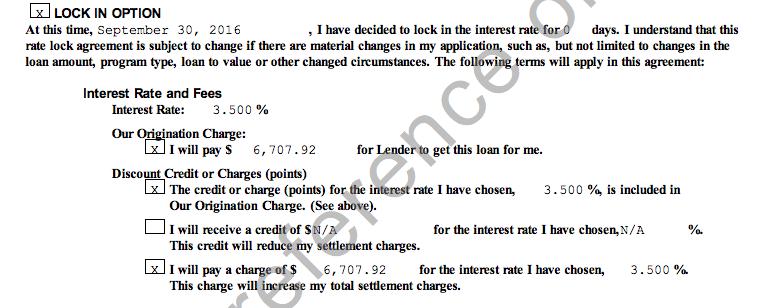 Refinance Terms: 3.5% plus owe $6700